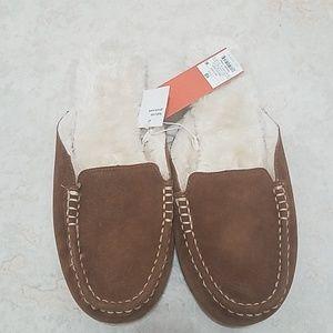 Gilligan & O'Malley Faux Fur Brown Slippers sz 10